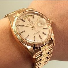 ref. 1807 daydate pg18k pink champagne dial