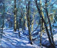 View Jonathan Shearer's artworks on artnet. Learn about the artist and see available works for sale. Oeuvre D'art, Original Artwork, Auction, Woods, Winter, Artist, Pictures, Painting, Outdoor