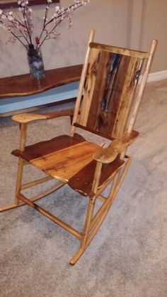 Custom Handmade Rocking Chairs for sale. Google Shotton Woodworks, from hand cut Walnut and Red Oak timber.