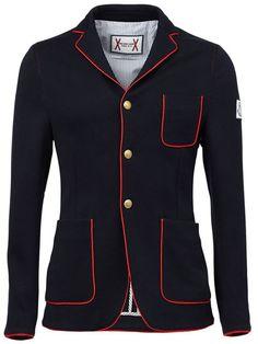 MONCLER GAMME BLEU piped trim blazer.  monclergammebleu  cloth  blazer  Blazer Fashion, 69a915bc04