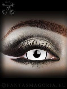 Deadpool 17 mm lenses Change your eyes at: http://www.fantasmagoria.eu/accessories/cosmetics-makeup/contact-lenses #fancy contacts #crazy lenzes