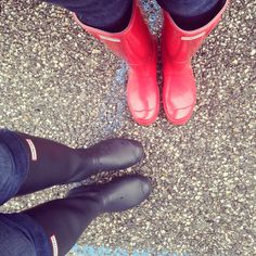 Me & my daughter in our Hunter boots :-)  #hunter #love