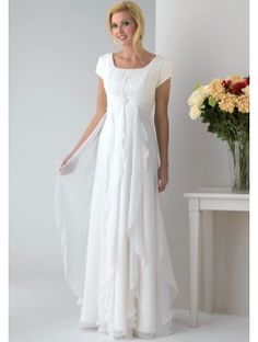 A-Line Square Neck  Chiffon Mother Of The Bride Dress