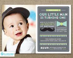 Mustache Invitation Little Man Birthday