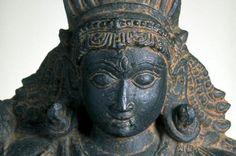 The Hindu deity Shiva in the fierce form of Bhairava (detail), 1300–1500. India, Karnataka state, Chloritic schist
