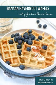Banaan havermout wafels - Mind Your Feed Pureed Food Recipes, Oats Recipes, Healthy Recipes, Healthy Sweets, Healthy Baking, Healthy Food, Good Food, Yummy Food, Healthy Smoothies