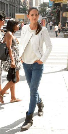 Katie Holmes: Jacket – Catherine Malandrino for ...