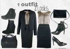 1 outfit - 2 looks More looks and inspiration on www.sos2dress.be @trendwalk @Carrementfemme