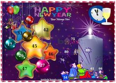 New Year 1  in 9x4 format :Templates Tickets | Tambola Housie