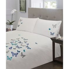 Home of Style Flutterby Bedset - Blue - Double from Homebase.co.uk