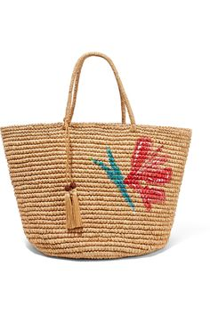 Sand toquilla straw Ties at open top Weighs approximately 1.8lbs/ 0.8kg These pieces are handmade and therefore may differ from that pictured