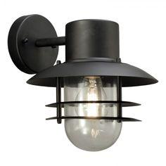 VÄGGLAMPA ANETA LANDSORT NER SVART IP44 - Vägglampa utomhus - Utomhusbelysning - Belysning Spotlights, Bauhaus, Sconces, Wall Lights, Lighting, Glass, Design, Home Decor, Products