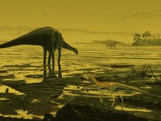 scottish sauropod. The Loch Ness Monster may be a myth, but Scotland was once home to some of the largest dinosaurs to ever walk the Earth. Recently, paleontologists uncovered hundreds of fossilized footprints on the beach of the Isle of Skye made as giant sauropods wandered through an ancient swamp.