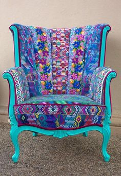 Pin By Bohoasis On Boho Decor In 2019 Furniture Funky Funky Furniture, Colorful Furniture, Unique Furniture, Furniture Makeover, Painted Furniture, Repurposed Furniture, Furniture Buyers, Furniture Companies, Turquoise Furniture