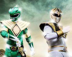 Mighty Morphin' Green & White Rangers