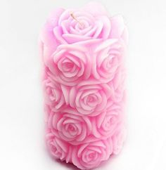Rose Pillars Silicone Soap mold candle mould 3D Handmade mold DIY Carft molds S252