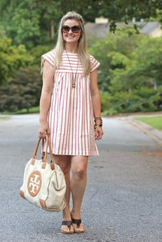 cute summer striped dress. The perfect outfit to beat the heat!