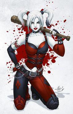 Harley Quinn pencils by Dawn McTeigue inks by Leo Vitalis colors by Sean Ellery #DawnMcTeigue #LeoVitalis #SeanEllery #harleyquinn #harleyquinzel #suicidesquad #Gotham #batman #joker #gothamsirens #poisonivy #ArkhamAsylum
