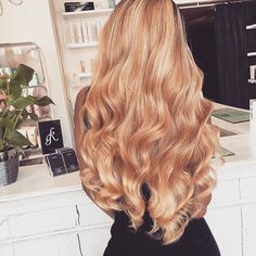 Long honey blonde hair
