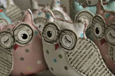 Stuffed Owl Pillow Pattern   And after I had finished making