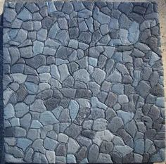 How to make a miniature rock stamp. This is great for making items out of foam board. CobblestonePainted