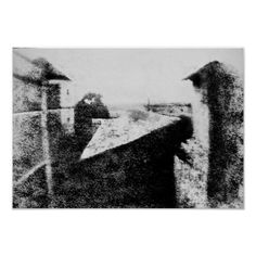 Customizable #Architecture #Black#White #Blurred #Blurry #Buildings #Bw#Photo #First#Photo #First#Photograph #France #French #Gras #Historic #History #Image #Le#Gras #Nicephore#Niepce #Noise #Old #Photo #Photo#Noise #Photograph #Photography #Photography#History #Pixelated #Retro #Sky #Sun #Sun#Rays #Town #Triangle #Vintage #White #Window View from the Window at Le Gras Poster available WorldWide on http://bit.ly/2f01BVc