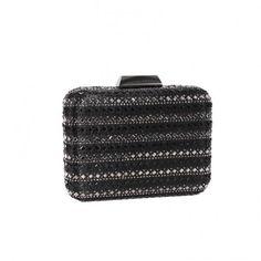 2ca4ceb8bd Arya Italian Jewels - Wedding Black Clutch Bag with Swarovski Crystal - Annabella  Pochette Donna da