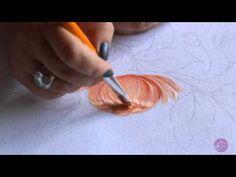 Pintura em tecido Eliane Nascimento: Crisântemo - YouTube