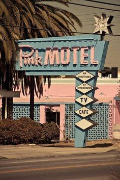 Pink Motel, Sun Valley, CA built in 1957 - still used as a motel and a frequent location for movie and television shoots.