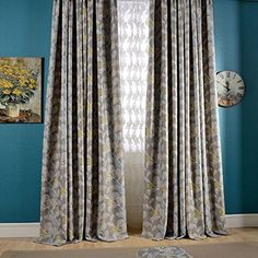 KoTing Home Fashion Modern Gray Flowers and Leaves Print Thermal Insulated Room Darkening Curtains Drapes Grommet Top,1 Panel,50 by 84-Inches KoTing http://www.amazon.com/dp/B014857RN0/ref=cm_sw_r_pi_dp_GtuLwb1MEZW8T