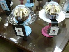 Mini cake stands DIY
