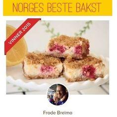 Norges Beste Bakst 2015 - Bringebær og sitron-ruter - Min vinner-oppskrift til Norges Beste Bakst 2015: Bringebær og sitron-ruter med smuldretopp