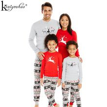 2017 New Christmas Pajamas Family Matching Clothes Sets Winter Mother Father And Son Christmas Outfits Suit Family Look Clothing()