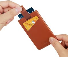 Minimalist Wallet Sleeve Slim Credit Card Holder Ultra Thin Leather Wallet RFID…