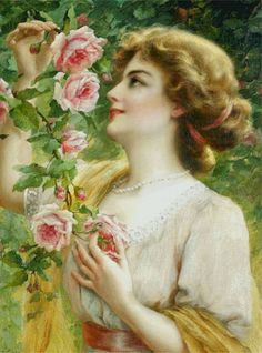 """Fragrant Roses"""" (1911) by Emile Vernon (french, 1872-1919)"""