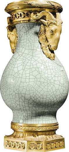 A George III gilt-bronze-mounted Chinese Ge-style bottle vase the mounts circa…