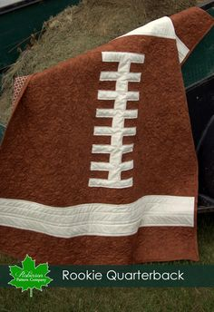 Baby Quilt Pattern - Rookie Quarterback - baby football sports quilt pattern - touchdown - diy - quick and easy. $8.99, via Etsy.