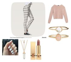 """""""Touch of pink"""" by lina-schroeder ❤ liked on Polyvore featuring Max&Co., Accessorize and Yves Saint Laurent"""