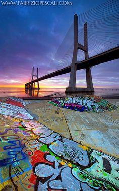 ~~The Merge of the opposite ~ Vasco de Gama Bridge, Lisbon, Portugal by Fabrizio Pescali~~