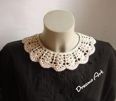 Crochet Gifts, Knit Crochet, Baby Knitting Patterns, Crochet Patterns, Crochet Collar Pattern, Crochet Projects, Free Pattern, Crochet Necklace, Barn