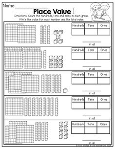 Place Value and TONS of other FUN printables for 2nd Grade!