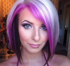 Pretty purple And blond hair!