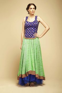 mint and blue indianwear