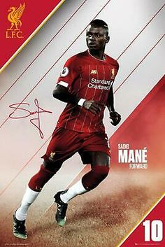 This is what the artwork of this maxi poster depicts, Sadio Mane has become a pivotal part of Liverpool attacking play for his quickness, relentless - always fighting style of play. Liverpool Stadium, Liverpool Poster, Camisa Liverpool, Gerrard Liverpool, Anfield Liverpool, Liverpool Champions League, Liverpool Fc Wallpaper, Liverpool Wallpapers, Champs