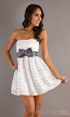 Short Strapless XOXO Dress in Ivory most likely going to be my homecoming dress ((: