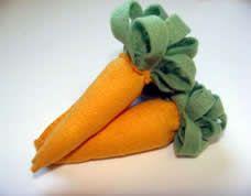 Como fazer cenoura de feltro passo a passo