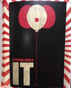 #IT minimalist art poster #stephenking #itmovie2017 #itmovie #clowns #halloween