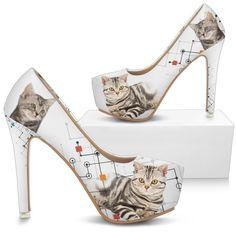 75c174763b846 American Shorthair Print Heels- Free Shipping