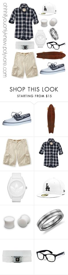 """""""Untitled #37"""" by ohhhifyouonlyknew ❤ liked on Polyvore featuring Sperry, Aéropostale, Hollister Co., adidas Originals, Hot Topic, Blue Nile, casual, tomboy, my creations and my style"""