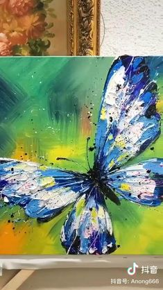 Canvas Painting Tutorials, Diy Canvas Art, Acrylic Painting Canvas, Knife Painting, Pour Painting, Canvas Art Paintings, Canvas Painting Designs, Abstract Painting Techniques, Acrylic Painting Flowers